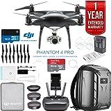 DJI Phantom 4 Pro Quadcopter Drone Camera (Obsidian) with Battery, Charging Hub, Custom Backpack and 64GB Memory Card Bundle (PHANTOM 4 PRO OBSIDIAN BACKPACK BUNDLE) (Tamaño: PHANTOM 4 PRO OBSIDIAN BACKPACK BUNDLE)