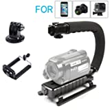 Micnova CC-VH02 Video Handle Handheld Steadycam Stabilizer for Skateboarding iPhone 8 8 plus 7 7 plus Android Smartphone Canon Nikon Sony DSLR GoPro Action Cameras DV Video Lights Flashes Microphones (Color: CC-VH02)