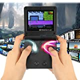 Inverlee Mini Retro Handheld Video Game Console 142 Games Portable Game Player Enjoy Your Free Time (Black)