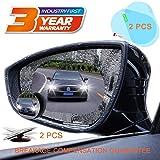 Blind Spot Mirror Car Rear View Mirror Film Waterproof Convex Rear View Mirror Best Blind Spot Mirror HD Glass Frameless Adjustable Round Car Accessories for Cars Trucks Van Motorcycles (round) (Tamaño: round)