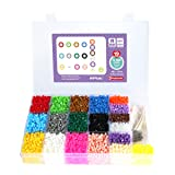 Artkal Beads Soft 19 Colors and 3 Pegboards Included Box Set R-5mm 9,100 Fuse Beads CRN36