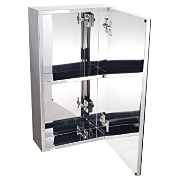 Armoire Miroir Rangement Toilette Salle De Bain Meuble Mural