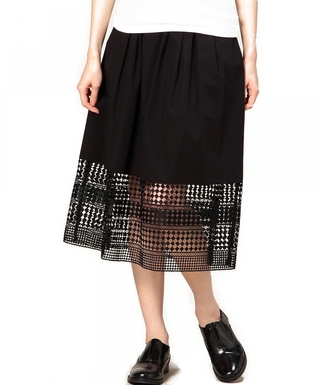 Amazon.co.jp: (ビューティーアンドユースユナイテッドアローズ) BEAUTY&YOUTH UNITED ARROWS BYSF タイプライター×ヘムレース ギャザースカート 16241622792 09 Black フリー: 服&ファッション小物通販
