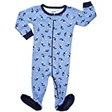 Leveret Killer Whale Footed Pajama Sleeper 100% Cotton 12-18 Months (Color: Orca Whale, Tamaño: 12-18 Months)
