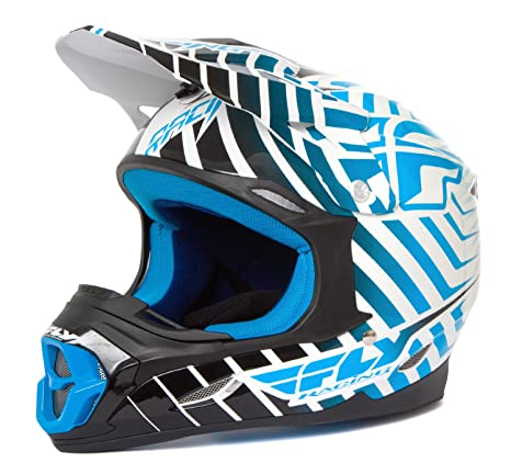 Fly 2014 casque de motocross three.4 blanc/bleu