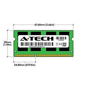 A-Tech 16GB Memory Ram Upgrade Kit (2X 8GB) DDR3L 1600MHz PC3L-12800 Non ECC Unbuffered 1.35V CL11 2Rx8 Dual Rank 204 Pin SODIMM for Laptop Notebook Computer (Color: PC3-12800 16GB Kit (2 x 8GB), Tamaño: PC3-12800 16GB Kit (2 x 8GB))