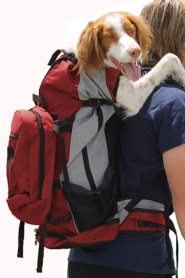 K9 Sport Sack | Dog Carrier Backpack for Small and Medium Pets | Front Facing Adjustable Pack with Storage Bag | Fully Ventilated | Veterinarian Approved (X-Large, Rover - Red) (Color: Rover - X-Large / Red, Tamaño: X-Large)