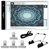 Cozonte A4 LED Light Box, diamond painting Light Pad Apply to diy 5D Diamond painting, see symbols and numbers clearer, light pad with detachable stand and clips (Color: A4-01)