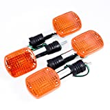 4pcs Turn Signals Blinker Light For Honda Shadow VTX Steed Rebel Magna 250 400 750 (Color: amber)