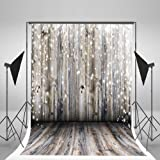 5x7ft Light Grey Wood Wall Photography Backdrop Gray Wooden Floor Photo Backgrounds for Christmas CCJ02424 (Color: XMAS_10, Tamaño: 7x5ft)