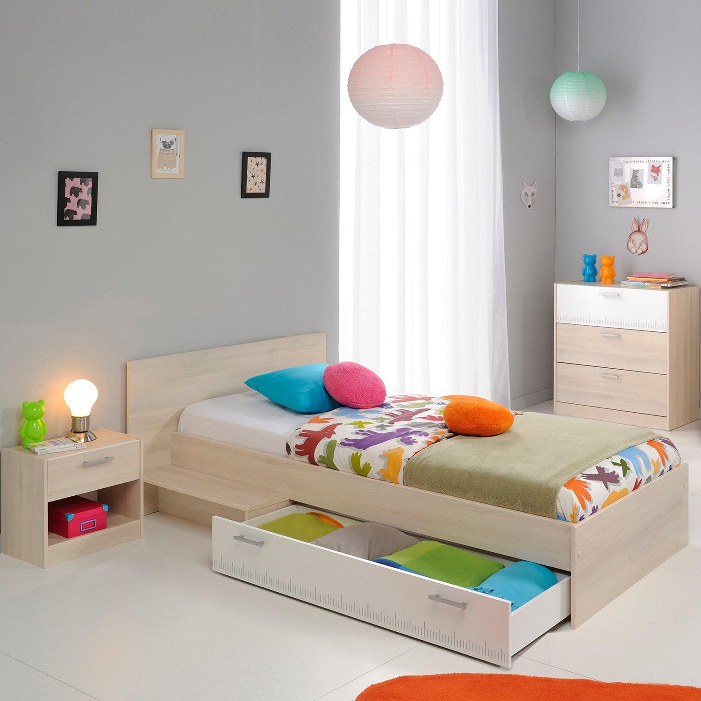 Jumbo-Möbel Charly 13 Jugendzimmer in Akazie Dekor Weiß jetzt bestellen