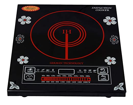 Surya Induction Cooktop Model DZ18-IP in Black at amazon