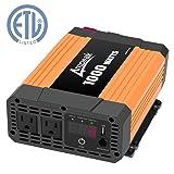 Ampeak 1000W Power Inverter 12V DC to 110V AC Dual AC Outlets 2.1A USB Car Inverter (Tamaño: 1000W)