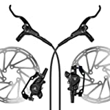 AFTERPARTZ NV-8 Hydraulic Disc Brake Kit for SHIMANO M315 M355 M375 M395 M396 AVID BB5 BB7 800MM Front Brake Cable and 1350MM Rear Brake Cable Black