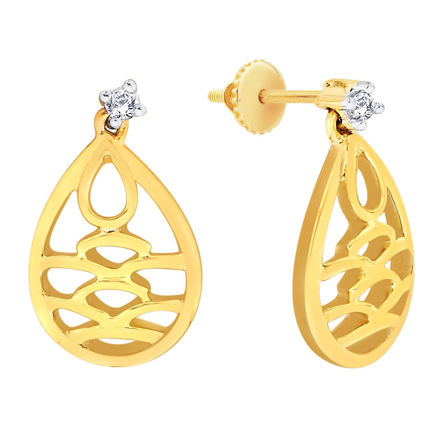 End Of Season Sale!! 40% - 80% Off On Fashion sale By Amazon | Senses by GILI .925 Sterling Silver and Diamond Stud Earrings @ Rs.1,500