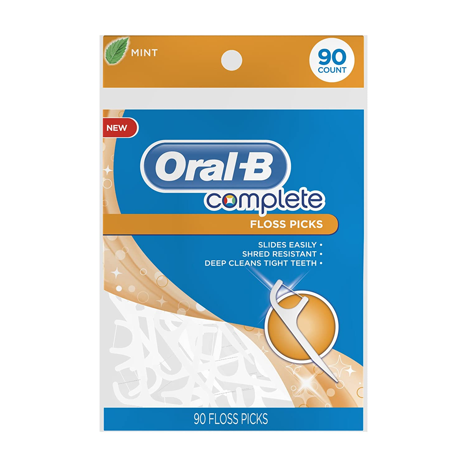 Oral-B Complete Floss Picks Mint 90 Count $1.99