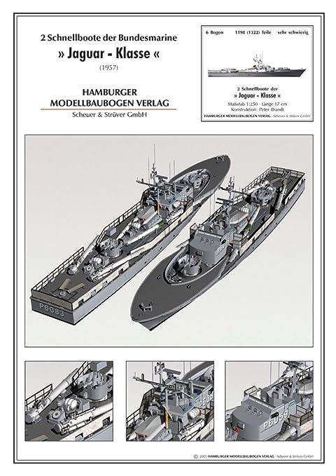 Modèle en carton de la classe de bateaux patrouilleurs rapides Jaguar
