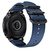 Fintie for Galaxy Watch 42mm / Gear Sport Bands, 20mm Soft Nylon Replacement Strap Band with Adjustable Closure for Samsung Galaxy Watch 42mm / Gear Sport/Gear S2 Classic Smartwatch, Navy Blue (Color: Navy Blue)