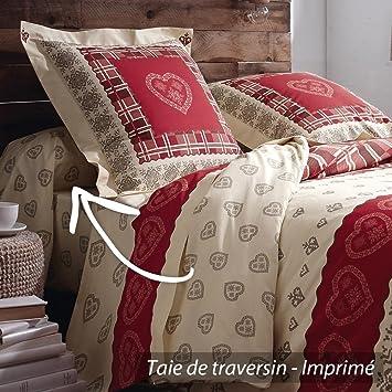 taie de traversin 140x43 140x43 cm 100 coton cosy cuisine maison m233. Black Bedroom Furniture Sets. Home Design Ideas