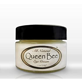 Queen Bee 100% All-Natural Organic Under Eye Cream - Removes Dark Circles Facial Lines and Wrinkles Naturally
