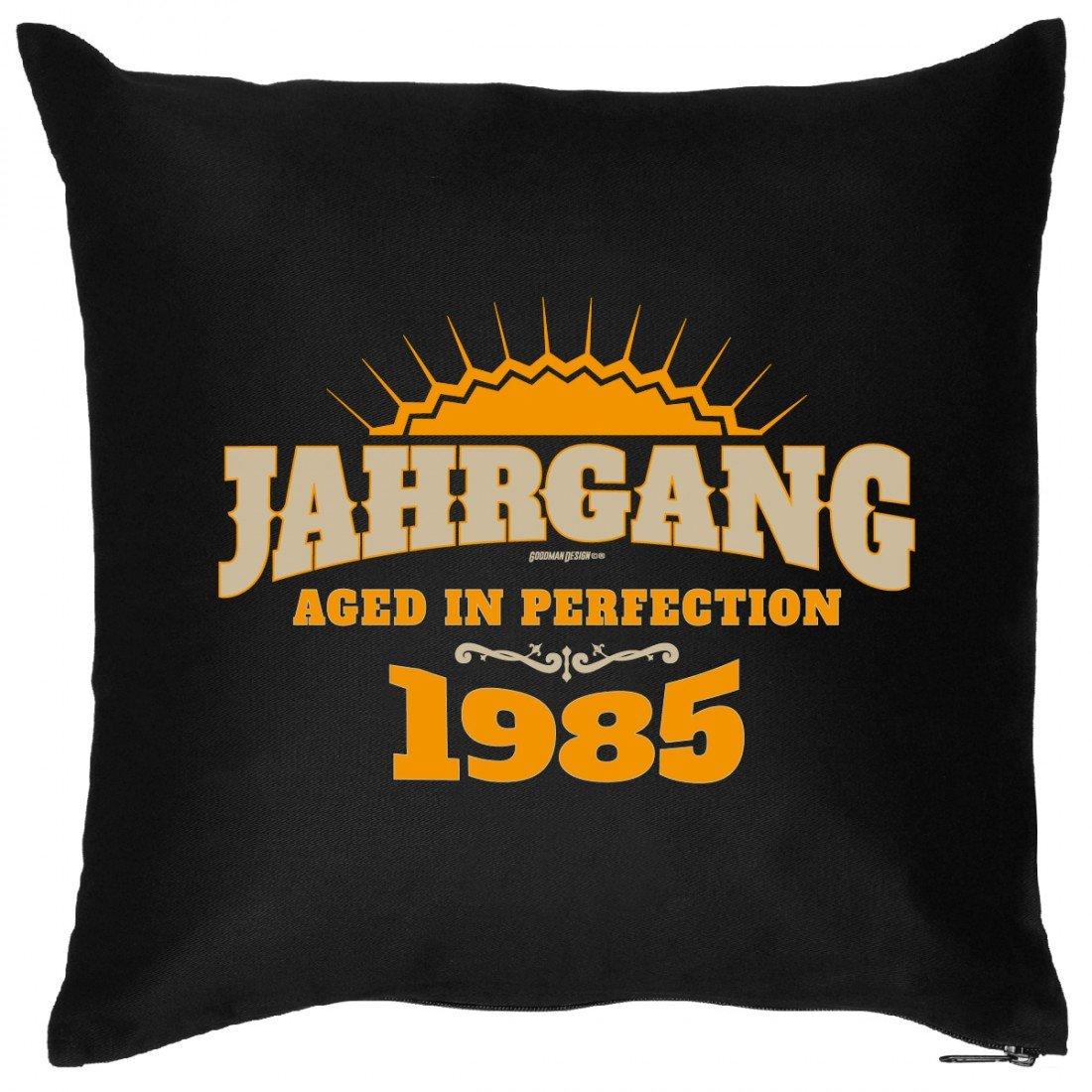 Cooles Couch Kissen zum Geburtstag – Jahrgang – Aged of Perfection 1985 – Sofakissen Wendekissen mit Spruch und Humor günstig kaufen