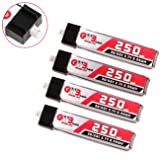 4pcs 250mAh 1S 3.7V 30C Blade Inductrix LiPo Battery Micro JST 1.25 Connector Tiny Whoop (Tamaño: 250mAh 1.25)