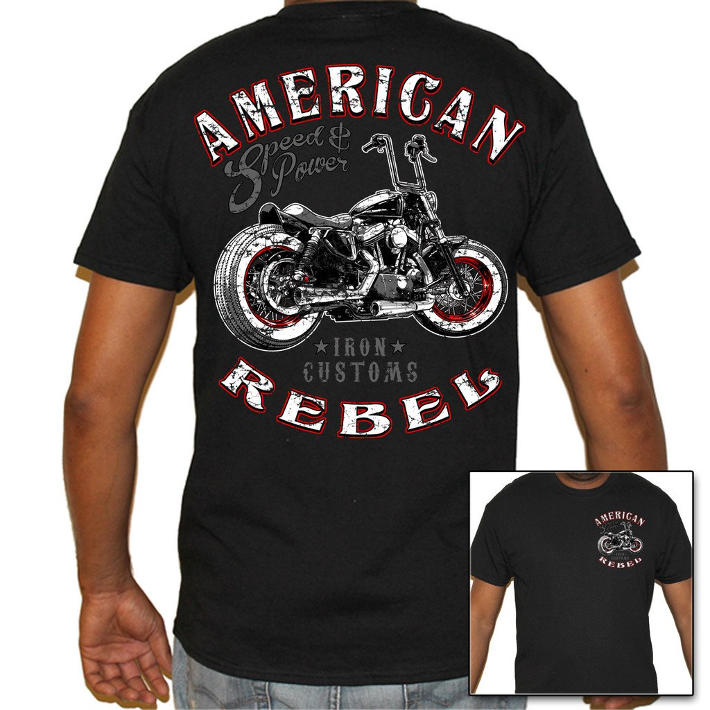Biker Life USA Men's American Rebel Biker T-Shirt 0