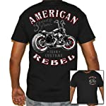 Biker Life USA Men's American Rebel Biker T-Shirt