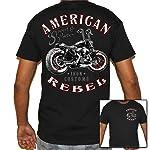 Biker Life USA Men's American Rebel Biker T-Shirt