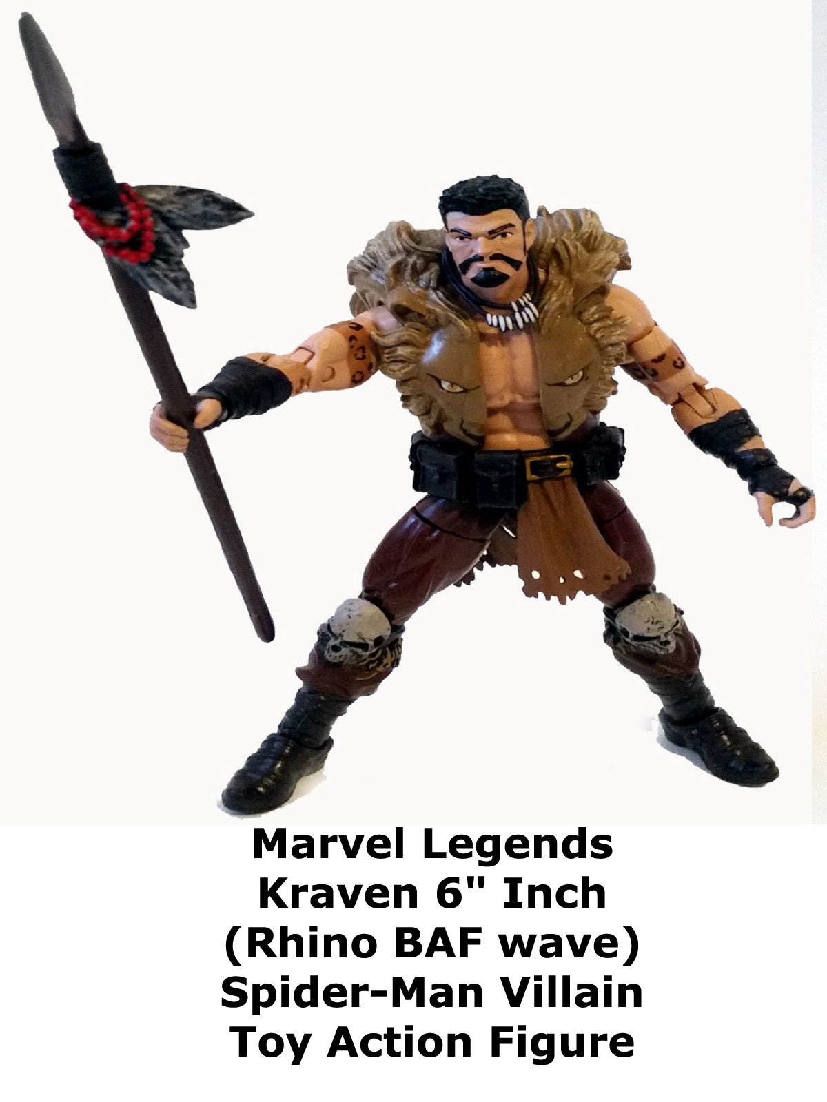 "Review: Marvel Legends Kraven 6"" Inch (Rhino BAF wave) Spider-Man Villain Toy Action Figure"