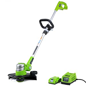 GreenWorks 21342 G-24 24V 12-Inch Cordless String Trimmer, 2AH Battery and Charger Included