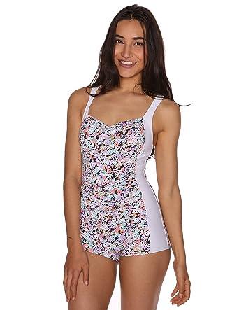 Sheridyn Swim Women's Marilyn Boyleg One Piece Swimsuit Floral Small