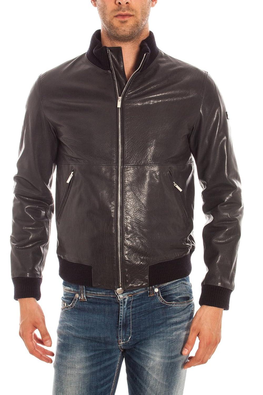 Armani Jeans Blouson Jacke Leder B6B25 MC Herren