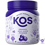 KOS Organic Açaí Juice Powder   Natural Antioxidant Superfood Açaí Juice Powder   Polyphenol Abundant, Anti-Aging, USDA Organic, Non-GMO Plant Based Ingredient, 360g, 120 Serving