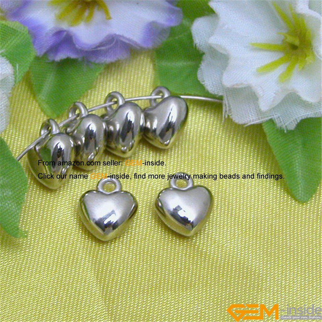 GEM-inside Antique Silver Plated Acrylic CCB Jewelry Making DIY Beads Charms Pendants