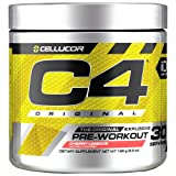 Cellucor C4 Original Pre Workout Powder Energy Drink Supplement For Men & Women with Creatine, Caffeine, Nitric Oxide Booster, Citrulline & Beta Alanine, Cherry Limeade, 30 Servings (Color: Multicolor, Tamaño: 30 Servings)