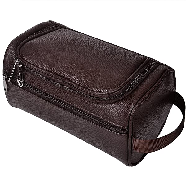 547525730151 HappyDavid PU Leather Travel Toiletry Bags Mens Ladies Supply Toiletry Dopp  Kit Bag (brown-204) (Color  ...