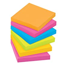 Post-it Super Sticky Notes, 3 x 3-Inches, Jewel Pop Collection, 12-Pads/Pack
