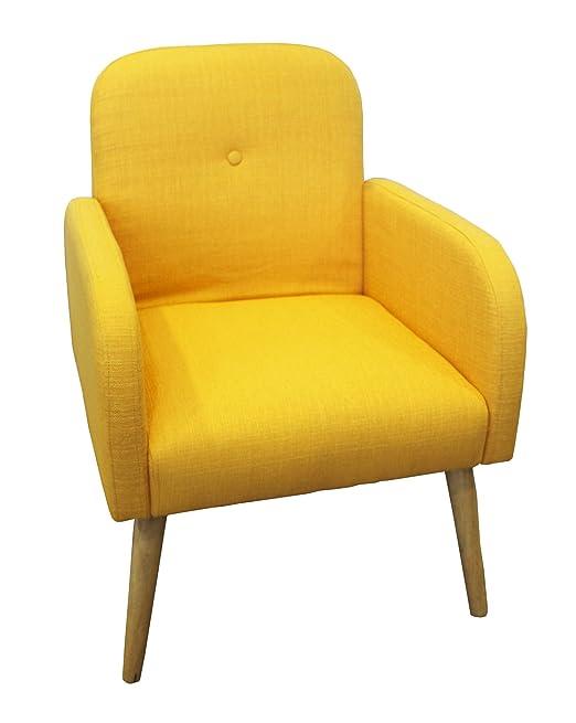 Poltrona colore giallo