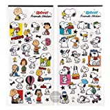 Peanuts Snoopy Upbeat Friends Planner Foil Stamping Art Paper Stickers/Pack of 2
