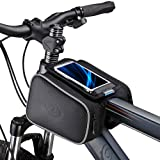 Bicycle Tube Frame Cycling Pannier Holder Bag Bike Pouch &5.5 inch Mobile Phone Screen Touch Bag-Black (Color: Type3)
