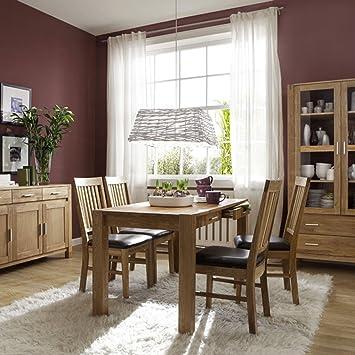 essgruppe hedmark 5 teilig in eiche massiv ge lt dee260. Black Bedroom Furniture Sets. Home Design Ideas