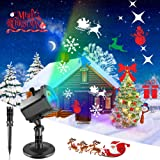 Christmas Projector Lights, SONATA Christmas Lights Decorations Outdoor Indoor Outdoor Holiday Lights for Christmas Home Party Garden Landscape Wall Decorations(12 Slides) (Color: Red)