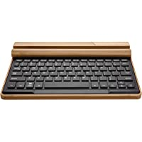 Jelly Comb Handcrafted Bamboo Bluetooth Wireless Keyboard with Built in Stand & Rechargeable Battery