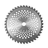 10'' 40 Teeth Carbide Tip Silver Circular Saw Blade Woodworking Wheel Discs for Garden Grass Strimmer Trimmer Weed Cutting Power Tool 25.4mm Bore Diameter (Color: ColorMap)