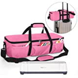 Luxja Foldable Bag Compatible with Cricut Explore Air and Maker, Carrying Bag Compatible with Cricut Explore Air and Supplies (Bag Only), Pink (Color: Pink, Tamaño: Bag for Machine)