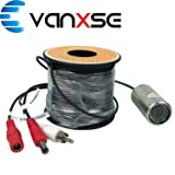 Vanxse Underwater Fish Camera HD 1000TVL 12Pcs LEDs Day/Night 100 Degree view Fish Finder video Camera (30Meters Cable)