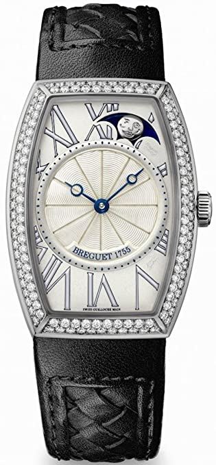 Breguet Heritage Phase de Lune Ladies White Gold Diamond Automatic Watch 8861BB/11/386 D000
