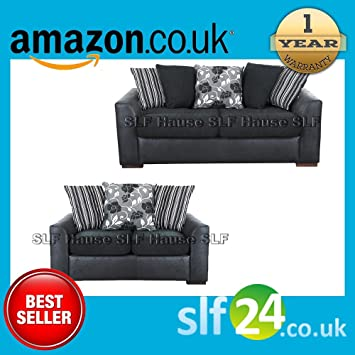 Luxurious Hause 3 + 2 seater sofa Black