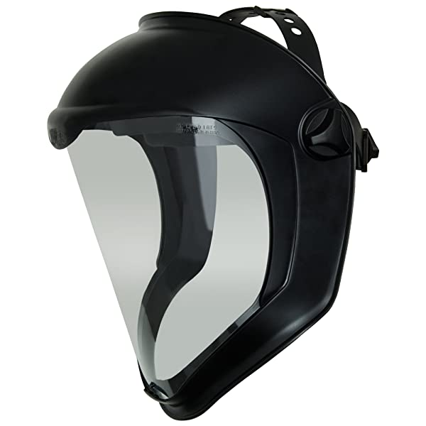 Uvex Bionic Face Shield with Clear Polycarbonate Visor (S8500) (Color: Clear, Tamaño: Universal One Size)